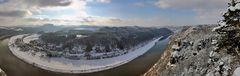 Blick von der oberen Basteiaussicht Panorama in spärischer Projektion