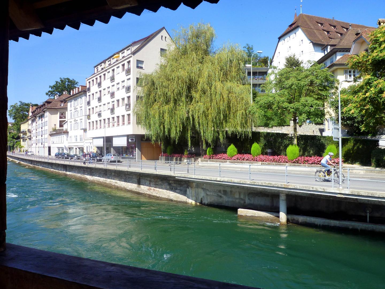 Blick von der Spreuerbrücke ...