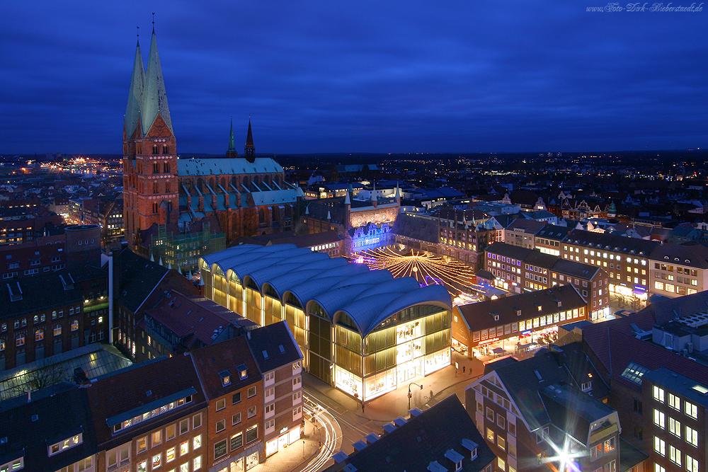 Blick von der St.-Petri-Kirche in Lübeck