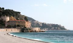 Blick von der Strandpromenade in Nizza