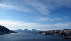 Blick von der Tromsdalen-Brücke