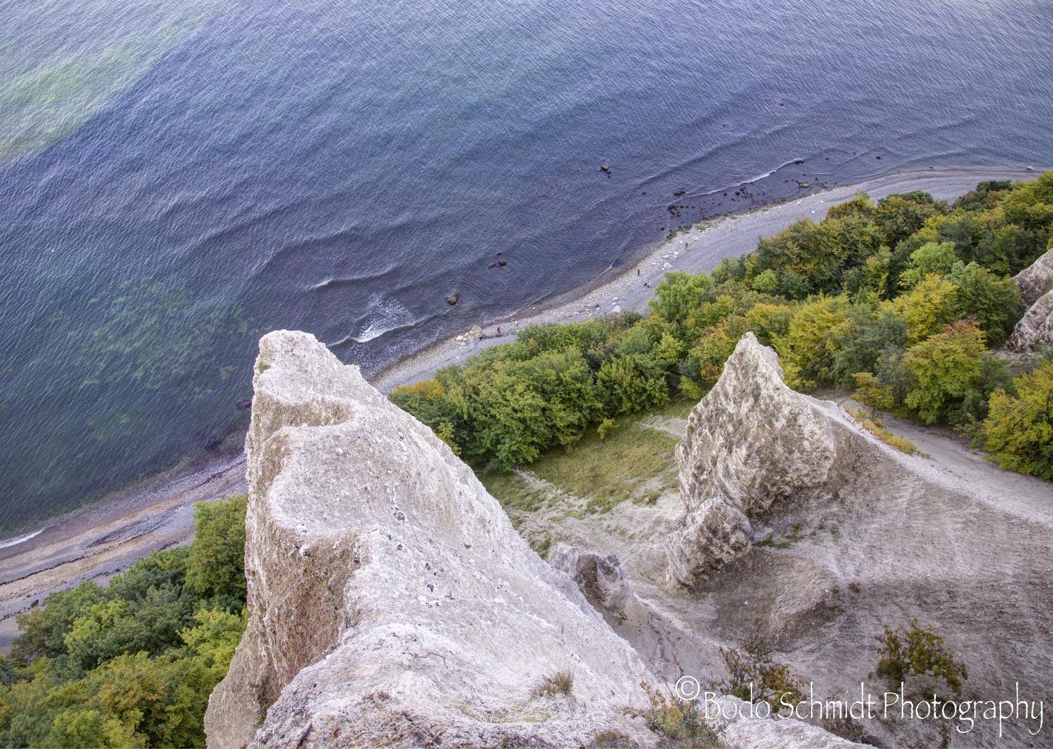 Blick von der Victoria Aussicht herunter auf den Strand