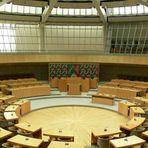 Blick von der Zuschauertribüne ins Plenum