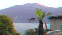 Blick von Limone sul Garda auf das Ostufer des Gardasees
