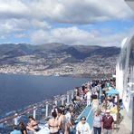 Blick von Mein Schiff 2 auf Funchal/Madeira