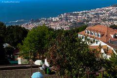 Blick von Monte auf Funchal