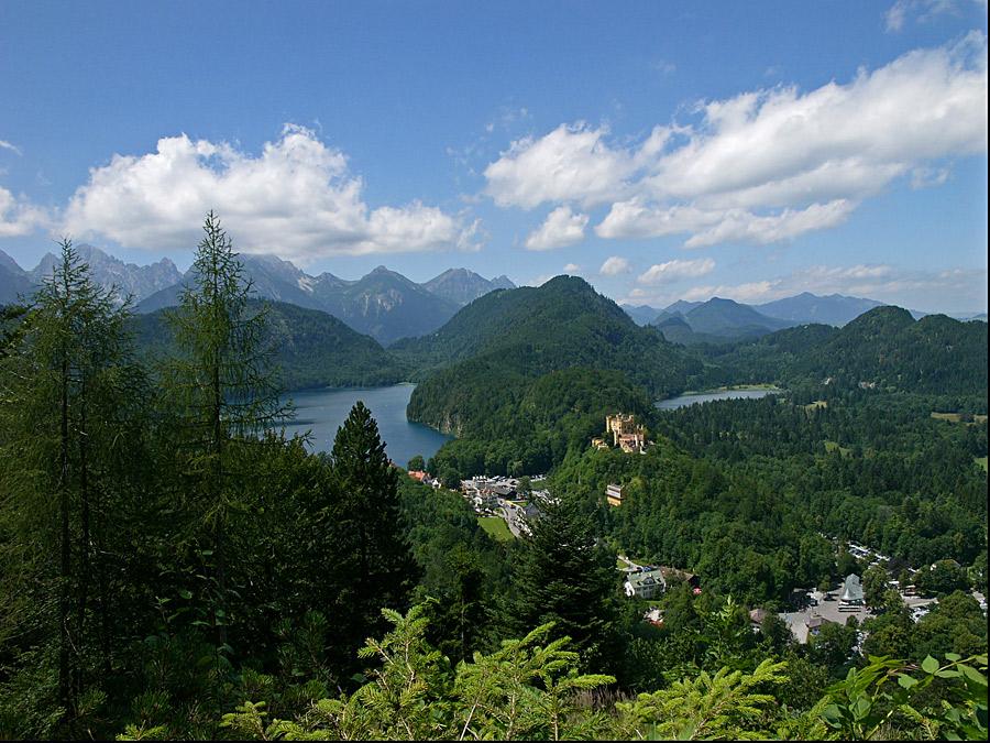 Blick von Neu Schwanstein