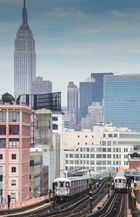 Blick von Queens nach Manhattan