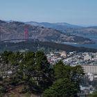Blick von Twin Peaks auf Golden Gate ...