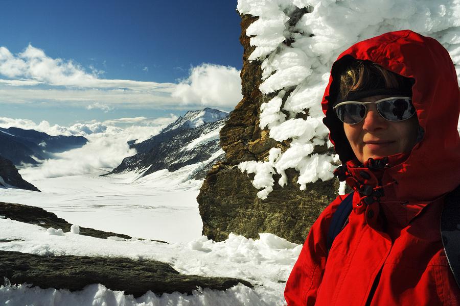 Blick zum Aletschgletscher