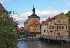 Blick zum Alten Bamberger Rathaus