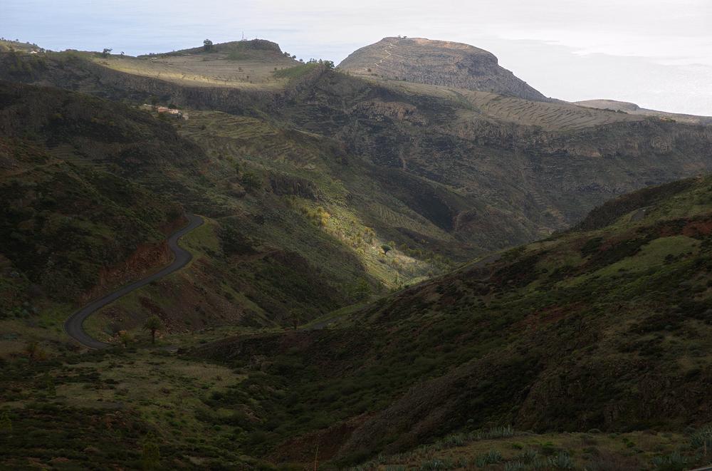 Blick zum Calvario, La Gomera