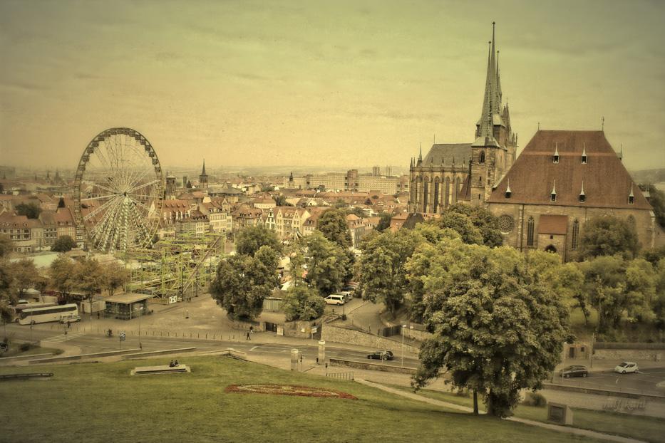 Blick zum Erfurter Dom