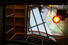 Blick zum Glasdach