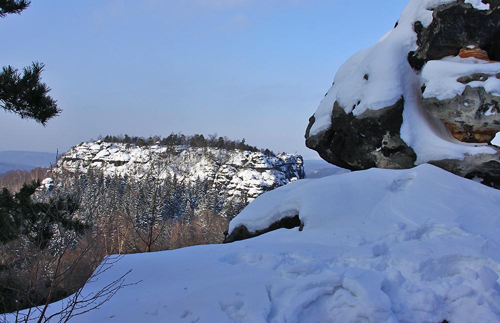 Blick zum Gorisch in schönster Januarsonne und angesichts des Schnees...