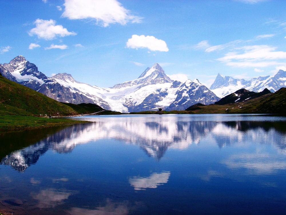 Blick zum Jungfraujoch vom Hochalpsee