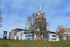 Blick zum Kröpeliner Tor in Rostocks Innenstadt