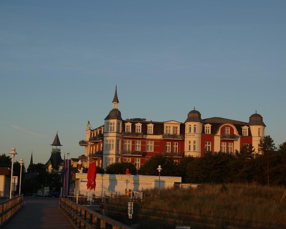 Blick zum Preußenhof in Zionnowitz...