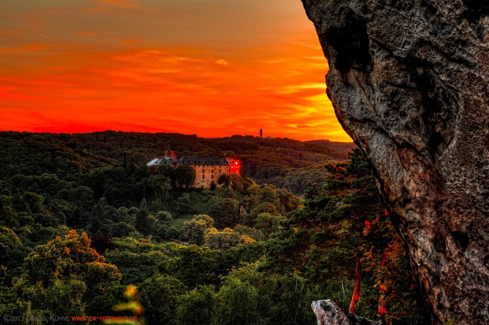 Blick zum Schloss Blankenburg