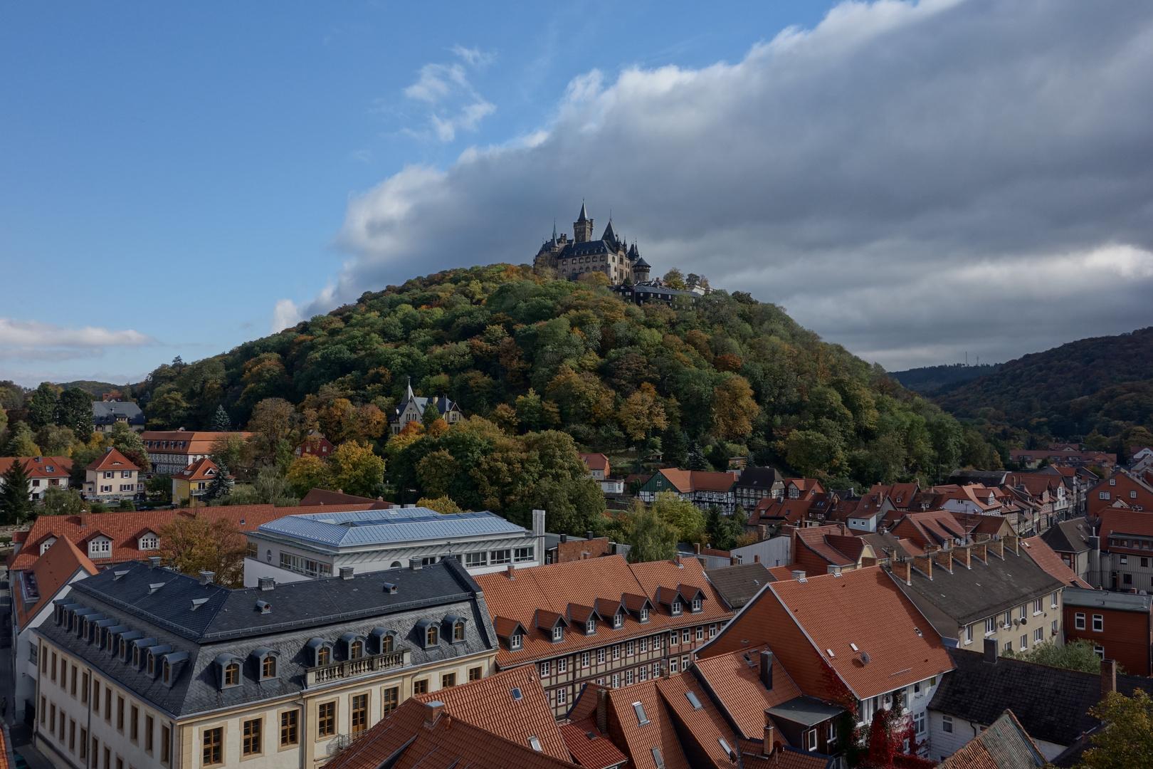 Blick zum Schloss Wernigerode
