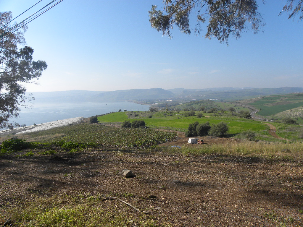 Blick zum See Genezareth