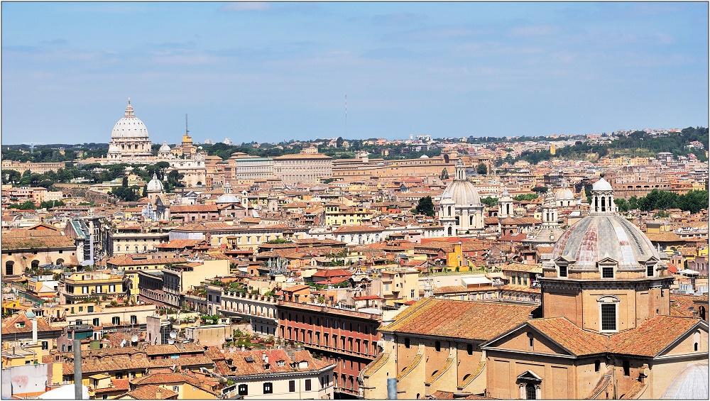 ... Blick zum Vatikan ...