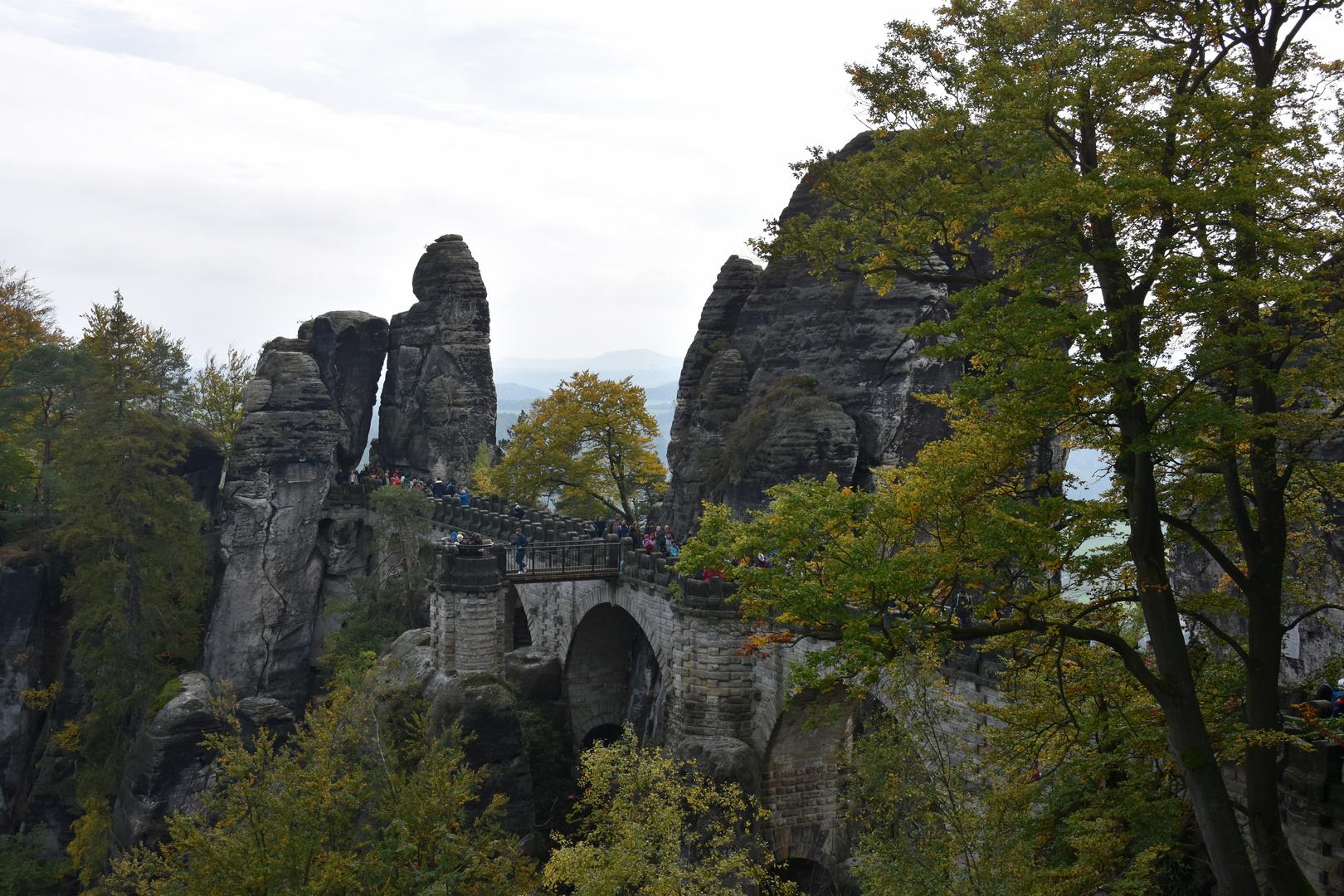 Blick zur Basteibrücke