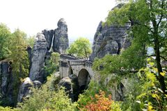 "Blick zur ""Brücke"" Bastei"