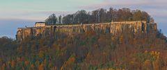 Blick zur Festung Konigstein als es am Dienstag vormittags einige Sonnenstunden..
