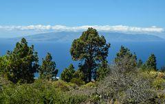 Blick zur Nachbarinsel Gomera