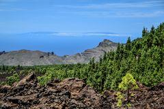 Blick zur Nachbarinsel La Palma