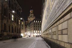 Blick zur nächtlichen Frauenkirche