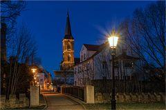 Blick zur St. Stephanie Kirche in Aschersleben
