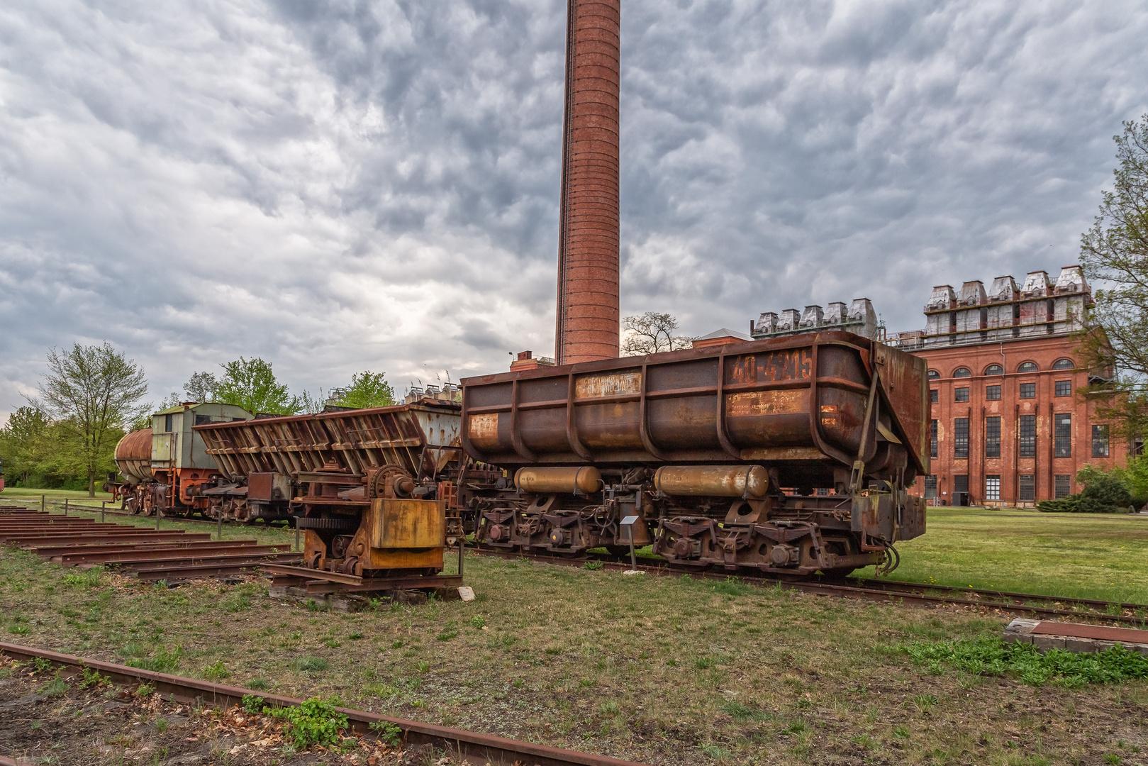 Blick zur verlassenen Brikettfabrik