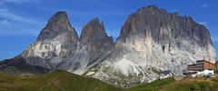 Blicke vom Sellajoch in den Dolomiten...