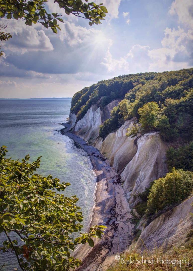 Blicküber die Kreideküste in Richtung Saßnitz