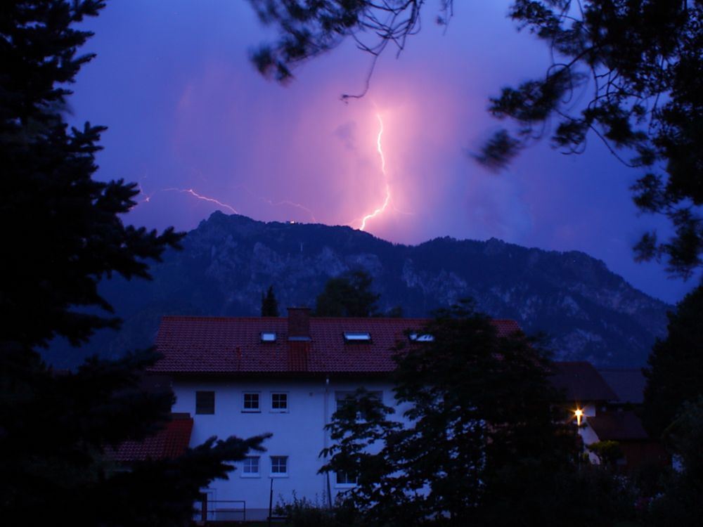 Blitz am Tegelberg