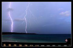 Blitz mit Meeresblick