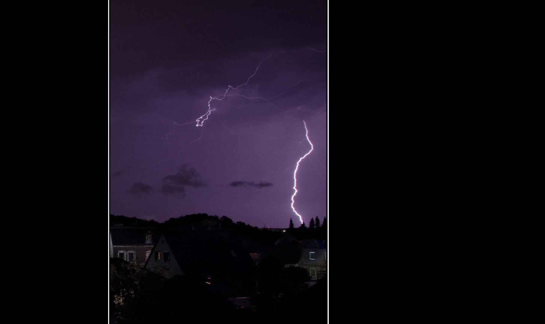 Blitz über Laboe
