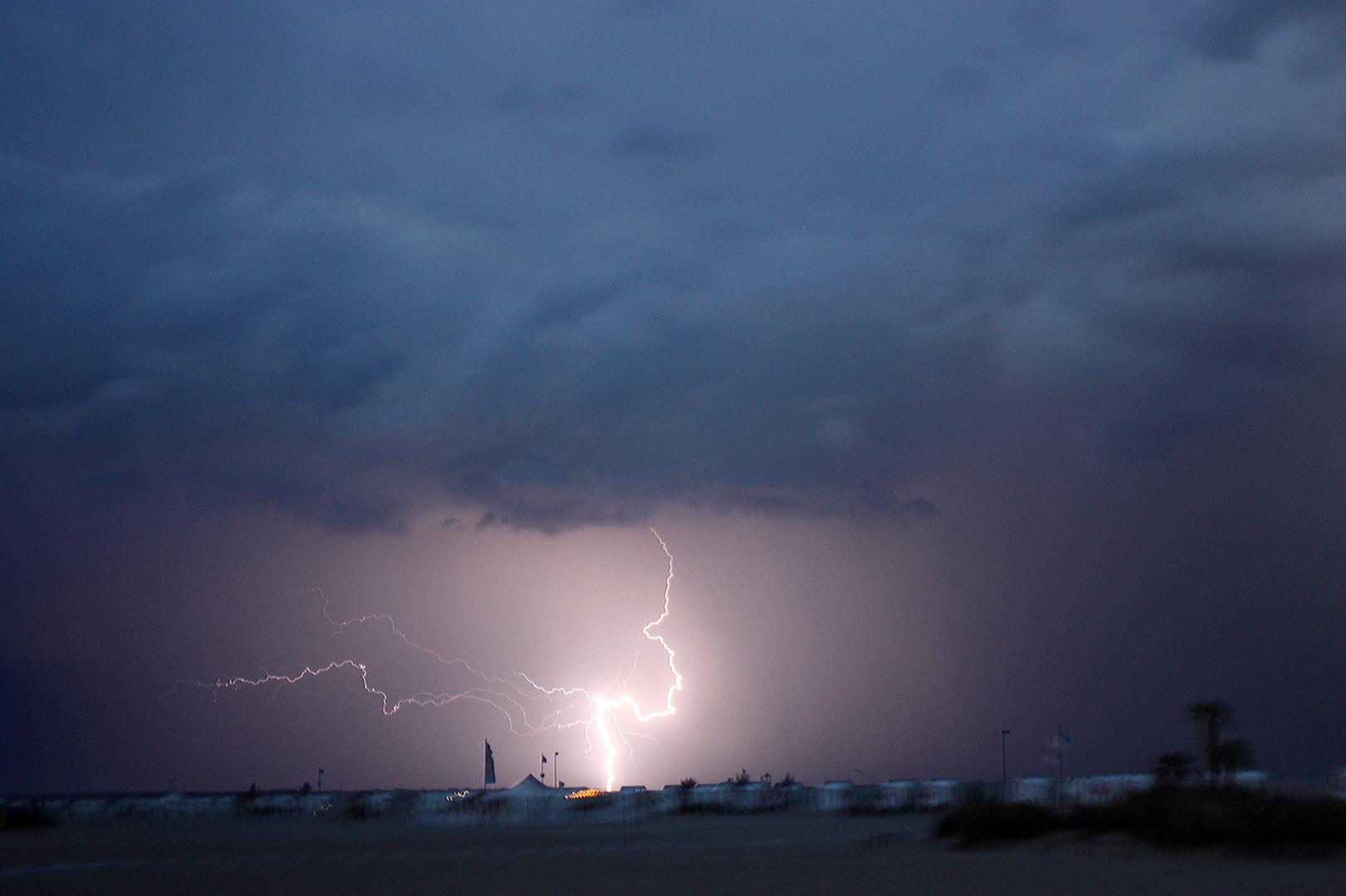 Blitz und Donner über Caorle