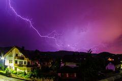 Blitze über dem Schwarzwald