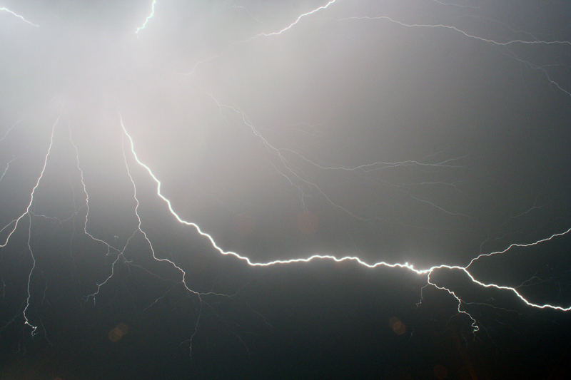 Blitze über Erfurt