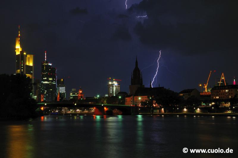 Blitze über Frankfurt