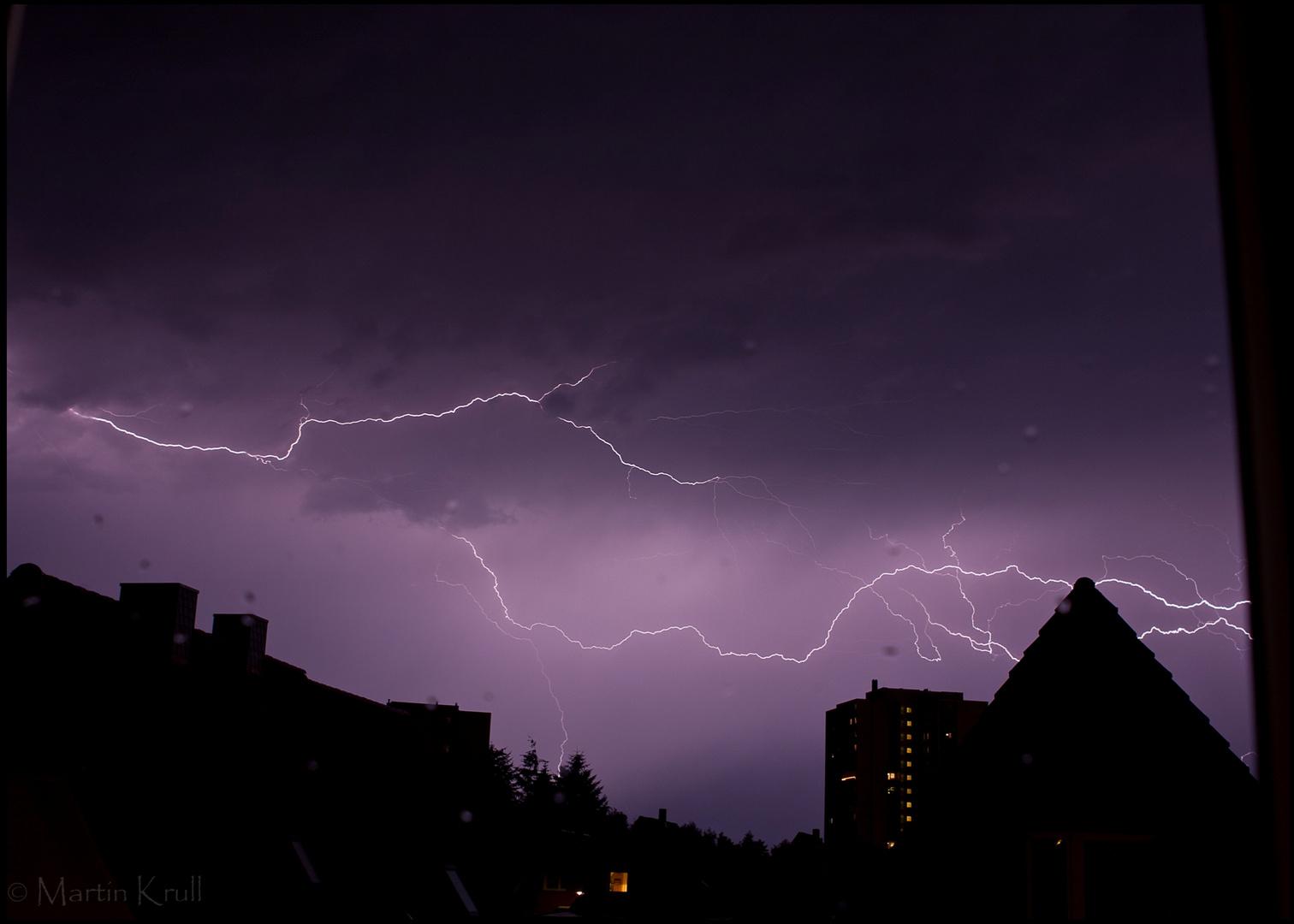 Blitze über Lübeck
