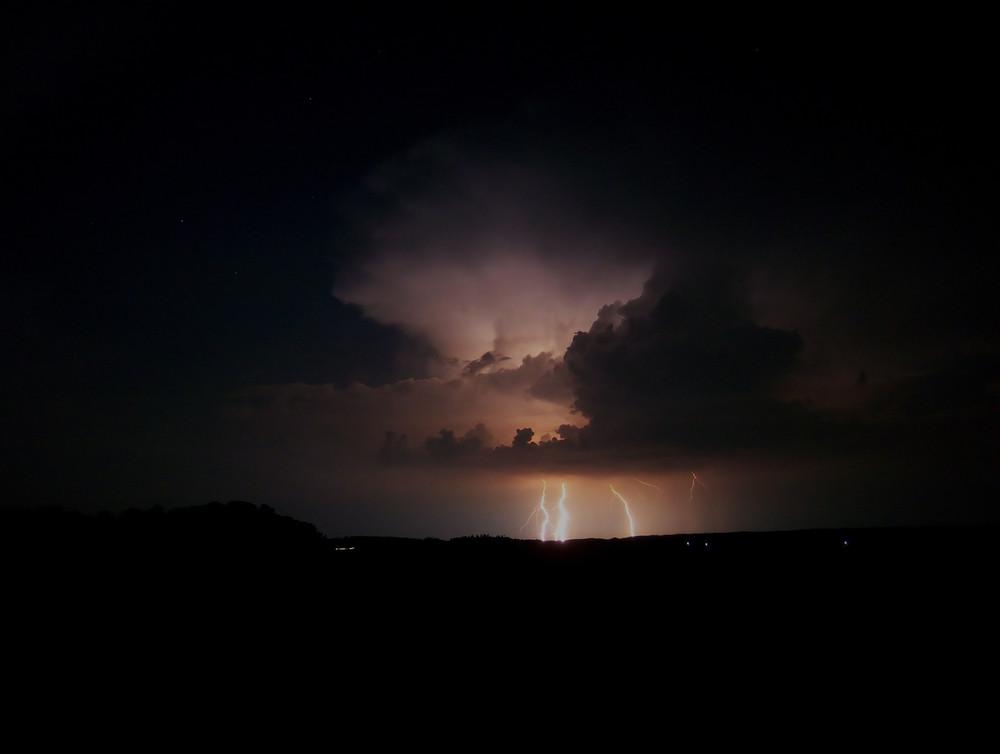 Blitze über Regensburg