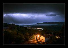 Blitze überm Meer