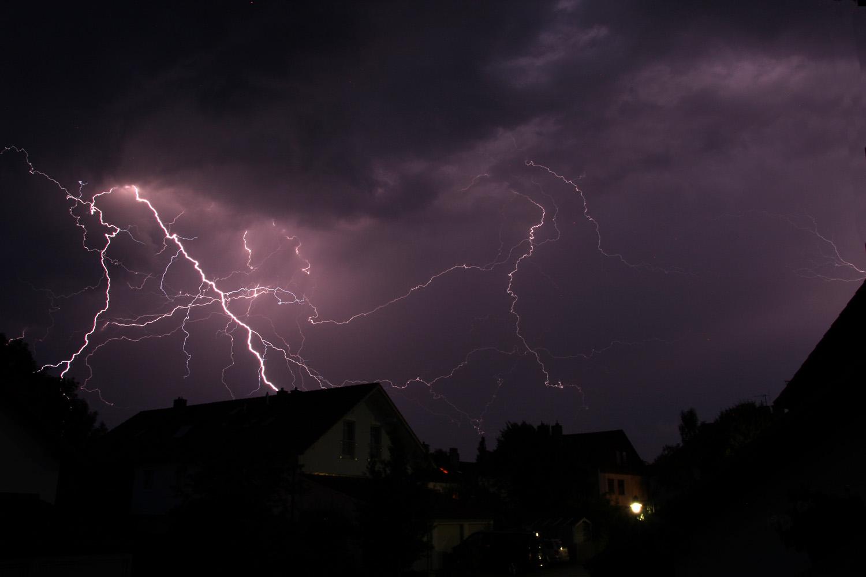 Blitzshow über Grafing 5.7.2012