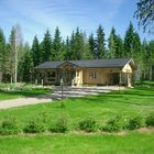 Blockhaussauna  (Gemeinschaftseinrichtung)in der Ferienhausanlage 21.6.2005