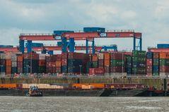 Blocklager auf dem Containerterminal Altenwerder - CTA