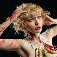 Blonde angel model